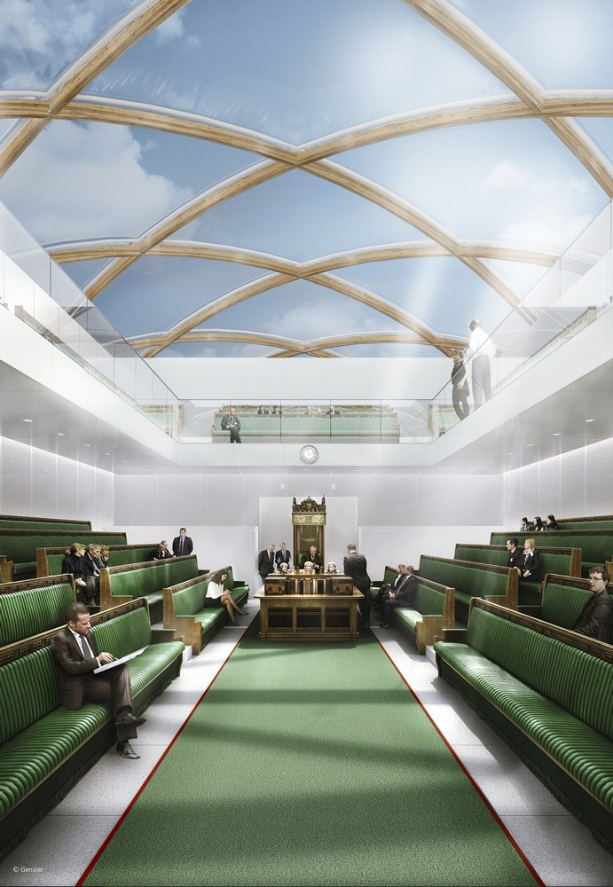 Temporary Uk Parliament On The River Thames E Architect