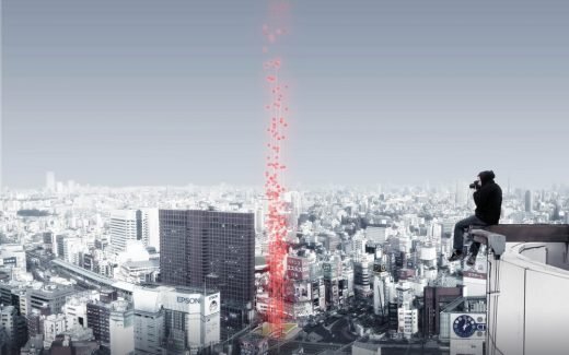 Tokyo Vertical Cemetery Competition 1st Prize