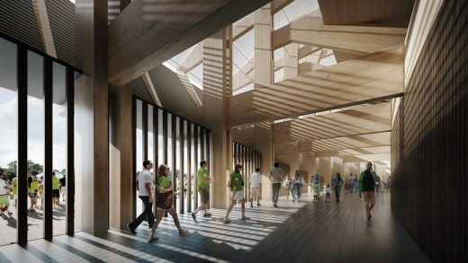 Forest Green Rovers Eco-park Design by Zaha Hadid Architects