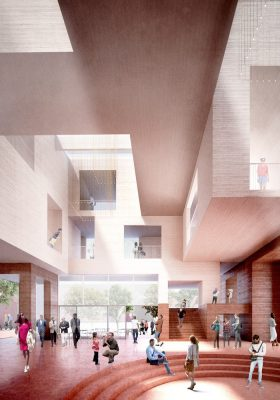 Gallaudet University design  by Hall McKnight architects