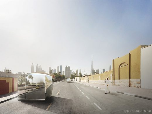 Hyperloop Pods and Portals in Dubai