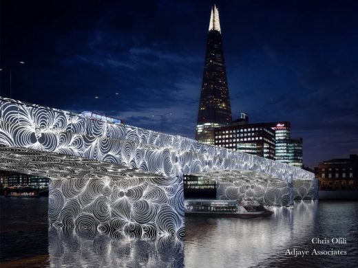 Illuminated River London bridges by Adjaye Associates