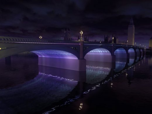 Illuminated River London bridges by Leo Villareal with Lifschutz Davidson Sandilands