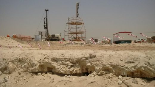 The Tower at Dubai Creek Harbour foundations