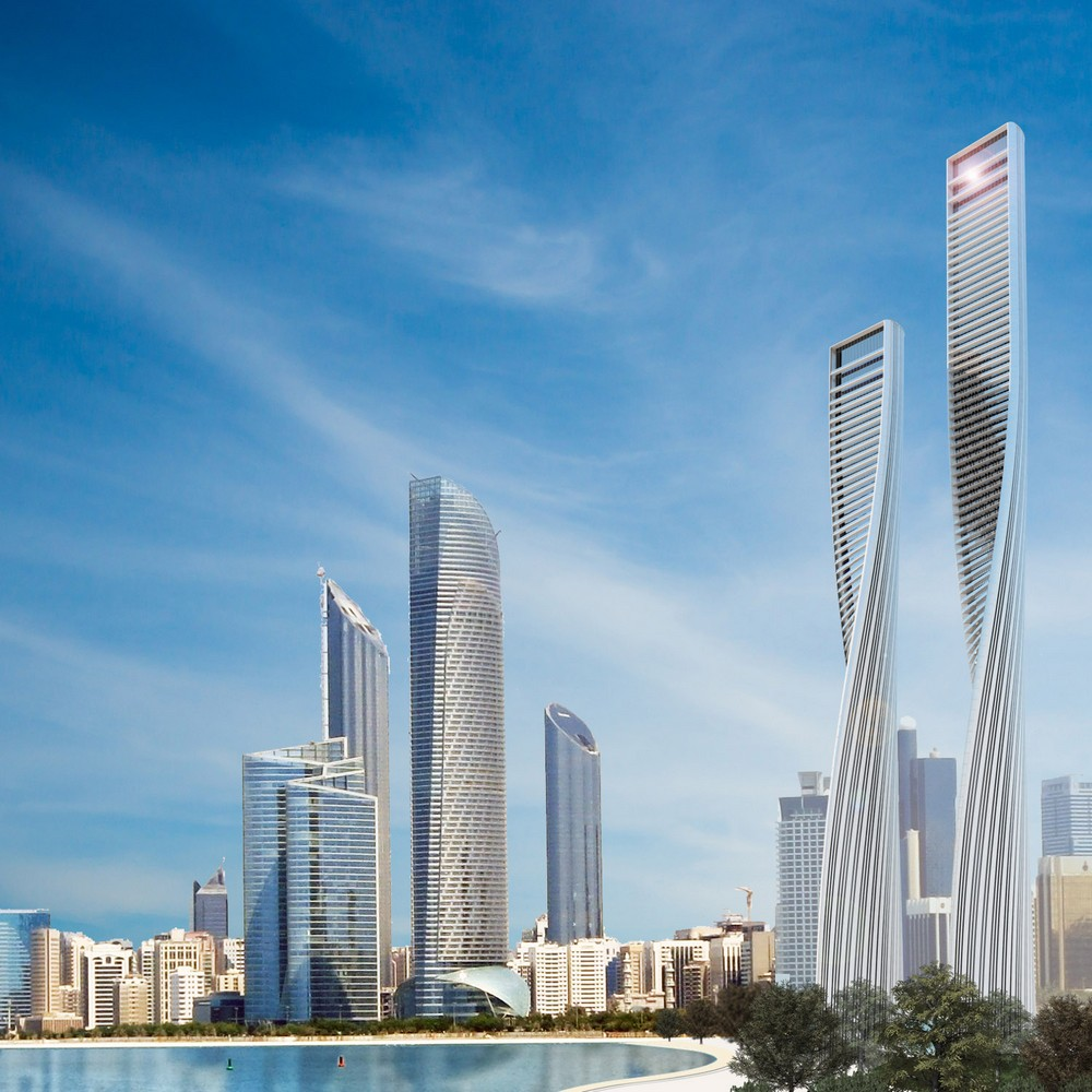 Twisted towers in abu dhabi 2 e architect for Architectural design companies in abu dhabi