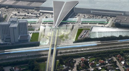 Copenhagen Airport new station expansion
