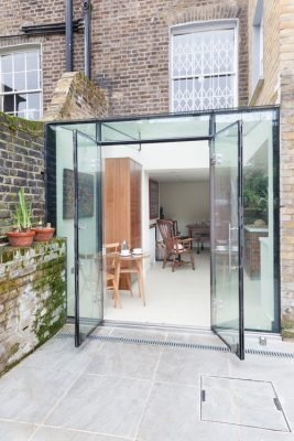 Islington glass box extensions London, contemporary expansion