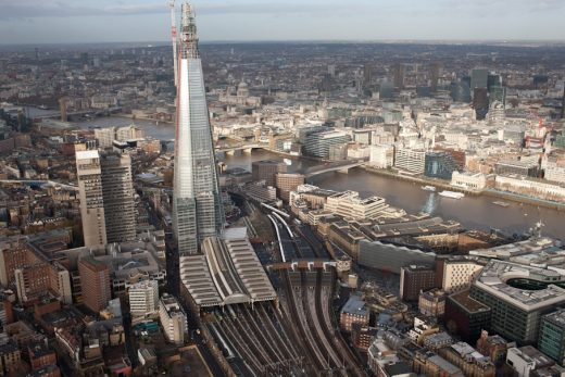 London Bridge Station Building aerial view