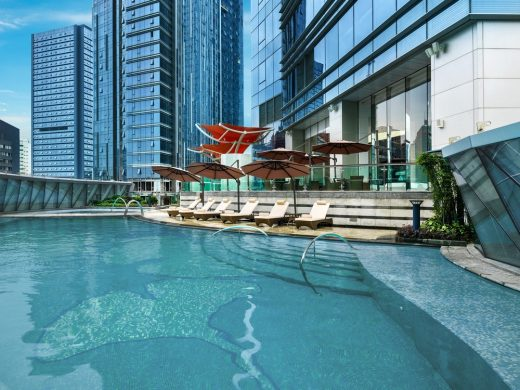 St. Regis Chengdu, China, by Aedas, Outdoor swimming pool