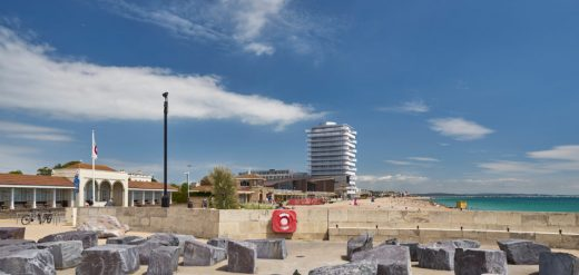 Aquarena Worthing tower by Allies and Morrison