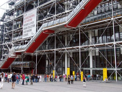 Centre Pompidou Building escalators