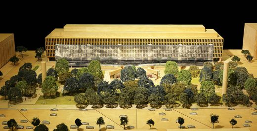 new Frank Gehry Eisenhower Memorial model
