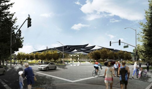 Google Bay View Complex Building Design in Mountain View