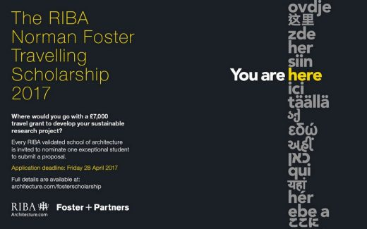 RIBA Norman Foster Travelling Scholarship 2017