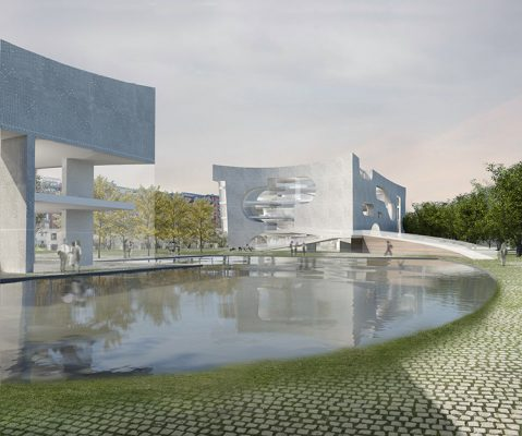 Cultural and Health Center in Shanghai by Steven Holl Architects