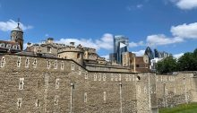 Tower of London building walls