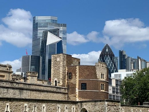 Tower of London city buildings