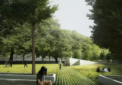 National Holocaust Memorial design by heneghan peng architects with Bruce Mau Design