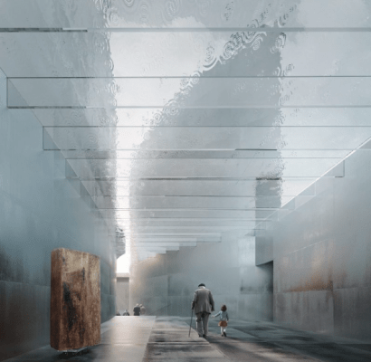 National Holocaust Memorial design by Lahdelma & Mahlamäki Architects with David Morley Architects