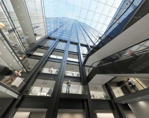 Willis Tower Building lobby interior