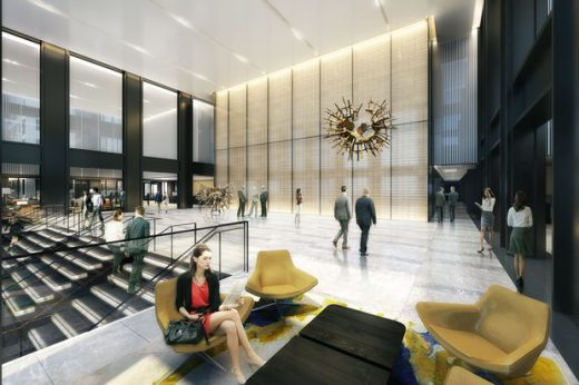 Willis Tower Building office lobby interior