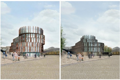 Calton Hill Hotel by Hoskins Architects old and new