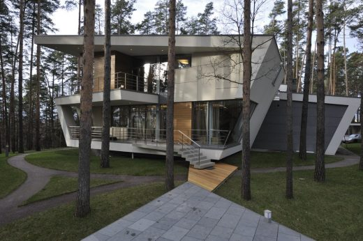 Gorki house moscow e architect - The elegance and functionality of cantilever architectural design ...