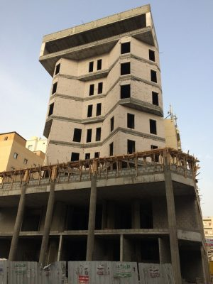 building under construction in Hawally
