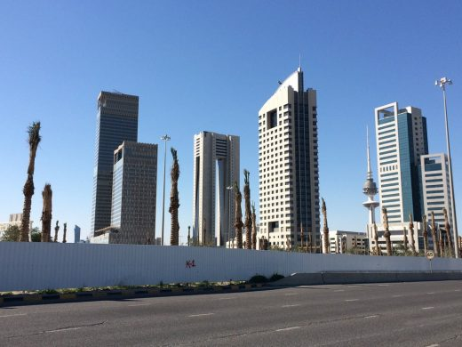 Kuwait City skyscraper buildings