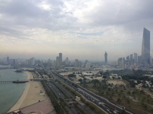 View south from Kuwait Towers