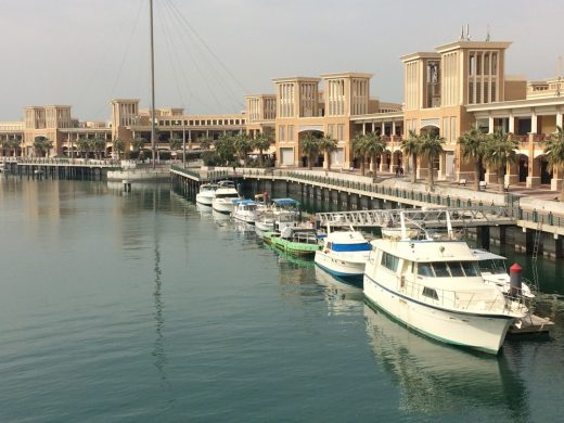Souk Sharq buildings and boats