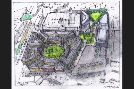 Redevelopment Proposals for Royal Mail Group Site in Clerkenwell by Francis Terry