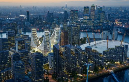 Peninsula Place building Greenwich by Santiago Calatrava