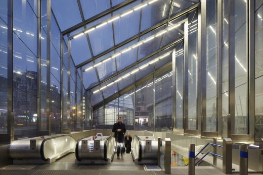 Tottenham Court Road Underground Station by Stanton Williams, architects