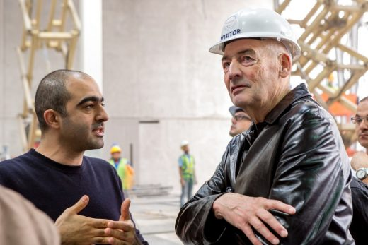 Rem Koolhaas visiting Concrete under construction