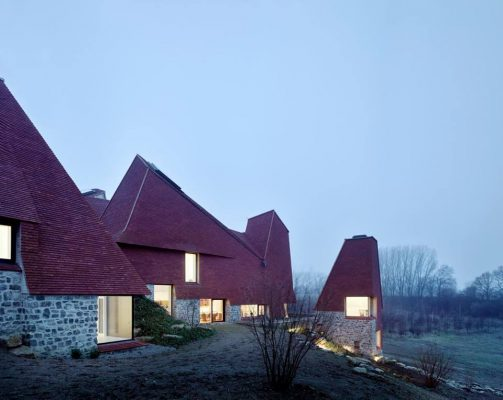 Private house, Kent by Macdonald Wright Architects with Rural Office for Architecture and Niall Maxwell