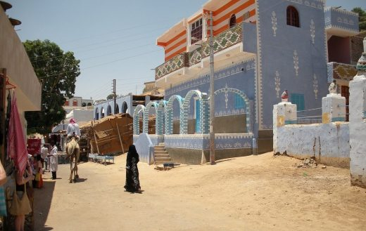 Nubian Village architecture in Egypt