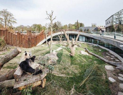 Panda House Copenhagen Zoo building design by BIG Architects