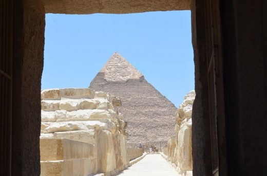 Pyramids architecture in Egypt