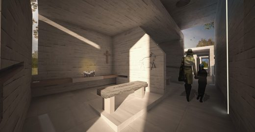 Sandy Hook Permanent Memorial Commission competition entry interior by Collaborative Architecture