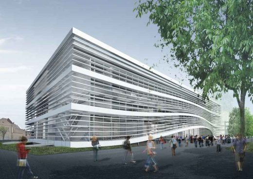 University College Ghent building by Sadar+Vuga