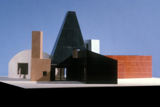 A model of the Winton Guest House, in Wayzata, Minn., designed by Frank Gehry, 1982-1987