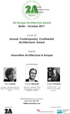 2A Continental Architectural Award Berlin, 2017