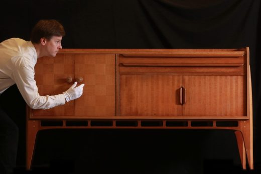 Senior Curator Stephen Jackson with the Allegro sideboard