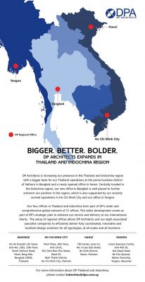 DP Architects expands in Thailand and IndoChina region | www.e-architect.co.uk