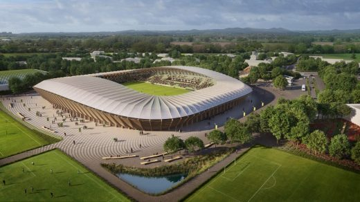 Forest Green Rovers Eco-park Design by Zaha Hadid