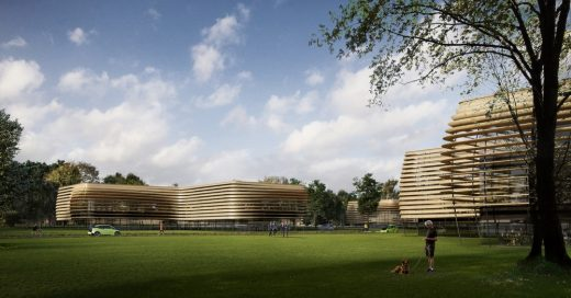 Forest Green Technology Hub at Eco Park by Zaha Hadid Architects