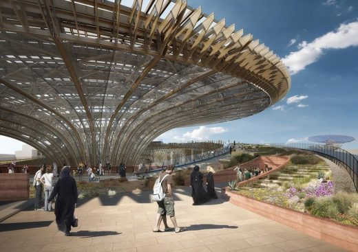 Dubai Expo 2020 Sustainability Pavilion design by Grimshaw