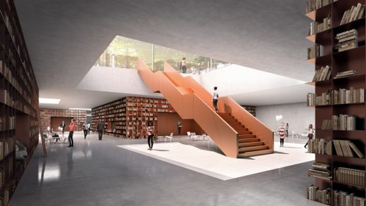 Hyde Park Library London 2nd prize | www.e-architect.co.uk