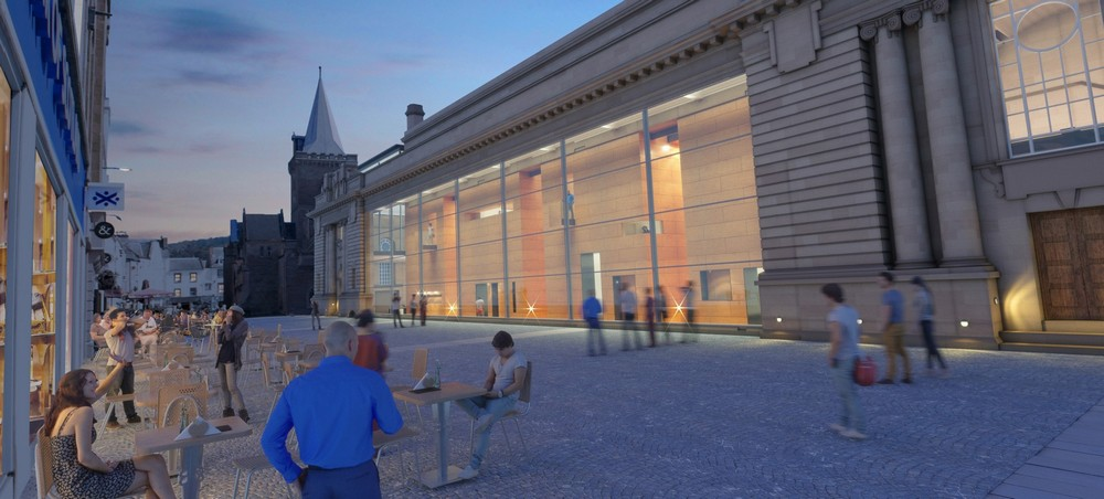 Perth city hall shortlisted design by richard murohy for Building designers perth